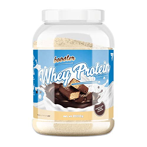 Trec Nutrition Booster Whey Protein Package of 1 x 2000g – Whey Protein Concentrate Powder – Muscle Building and Recovery Protein – Amino Acid and MCT Oil (Triple Chocolate)
