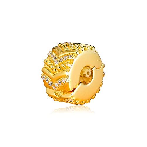 Pandora 925 colgante de plata esterlina Diy CKK elegante Clip de deseo abalorios para hacer joyas se adapta a la pulsera Kralen