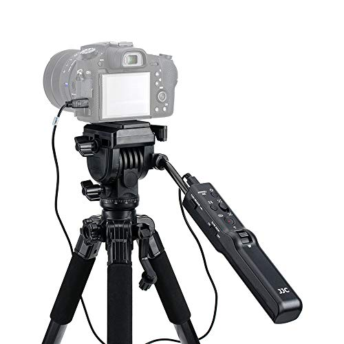 JJC VCT-VPR1 コンパクトリモートコントロール三脚スタンド Sony A7R IV A7 III A7S II A9 A6000 A6600 A6500 A6400 A6300 A6100 RX100 VII RX10 FDR-AX53 AX33 AX100 AX700 HDR-CX405 CX440 CX455 CX675 CX900など用