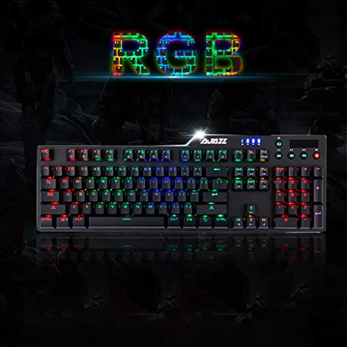 NEW! BB67 Wired Game Black-Shaft Mechanical Keyboard With Backlight Alloy, Console Game Online Game Best Matched Keyboard