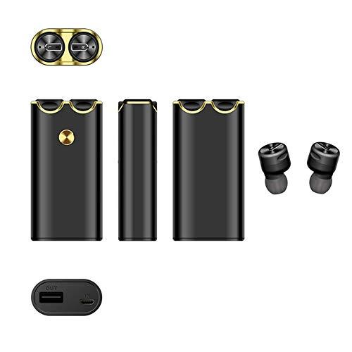 WHSS Bluetooth Headset Deporte Auricular Estéreo Inalámbrico TWS Modo Muy Privada Bluetooth Un Gran Tesoro De Carga De Bluetooth 5.0 Auricular Vida De La Batería Duradera (Color : Black)