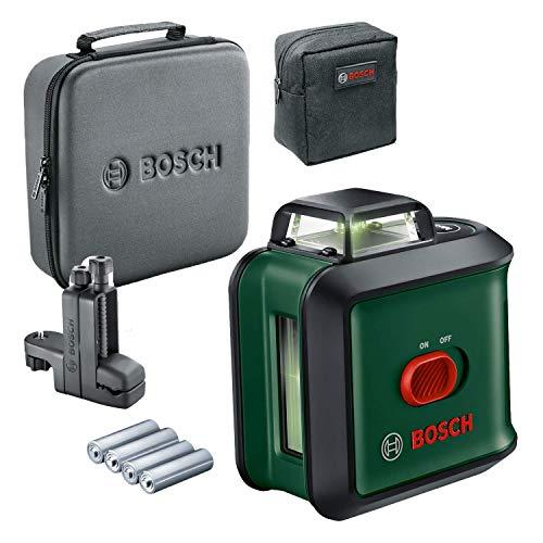Bosch UniversalLevel 360 Flexi Set - Nivel láser (láser verde, alcance: hasta 24 m, precisión: ± 0.4 mm/m, con auto nivelación: hasta ± 4°, pinza universal MM 3, en maletín blando)