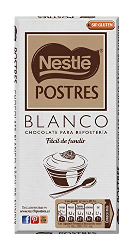 Nestlé Postres Chocolate Blanco para Fundir, 180g