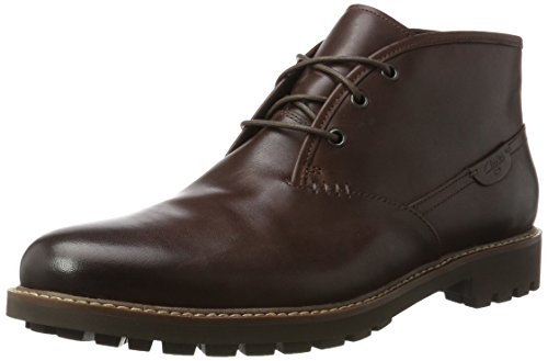 Clarks Herren Montacute Duke Kurzschaft Stiefel, Braun (Chestnut Leather), 44.5 EU