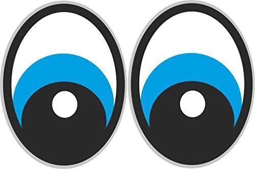 2x Augen Aufkleber für Saugroboter, Mähroboter Wischroboter Thermomix Sticker Set Roboter (blau)
