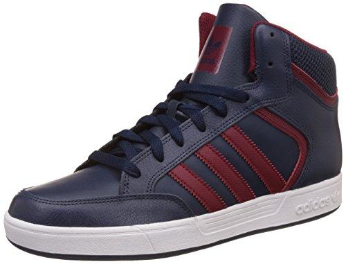adidas Herren Varial Mid Hohe Sneaker, Blau (Collegiate Navy/Collegiate Burgundy/FTWR White), 41 1/3 EU