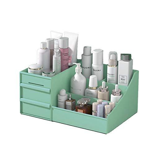 HOODIE Make-up Organisator Cosmetische Accessoires make-up opbergdozen met 2 laden en 7 vakken Opbergdoos Grote capaciteit Grootte 11.2 * 6.8 * 4.9in Geschikt voor badkamer slaapkamer dressoir