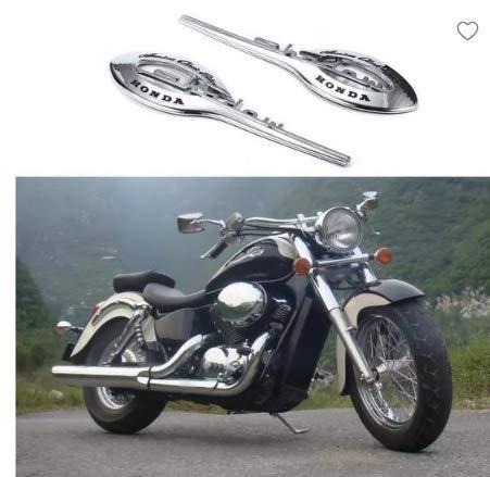 NaiCasy 2 Stück Motorrad-Gas-Behälter-Emblem-Aufkleber Badge Aufkleber für Honda Shadow 400-750