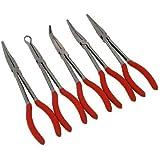 Neilsen CT30075pezzi Set di pinze lunghe 27,9cm–rosso (pezzo)