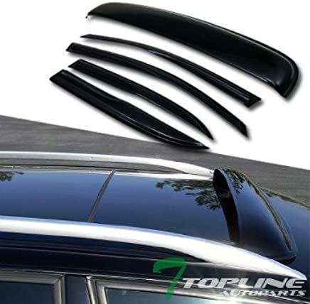 4pcs Smoke Tint Sun//Rain Guard Vent Shade Window Visors Fit 05-09 Equinox//Torent