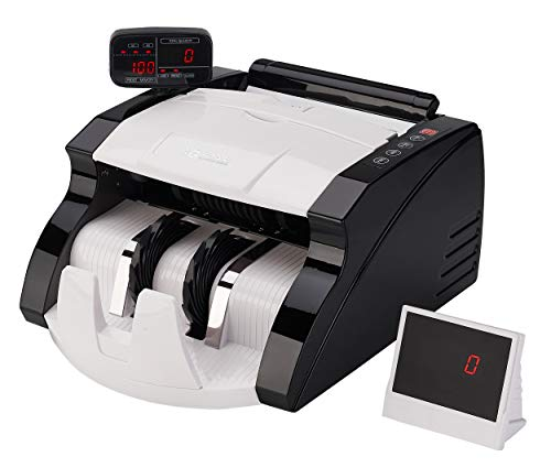 GStar Money Counter with UV/MG/DD Counterfeit Bill Detection Plus External Display and 2 Year Warranty