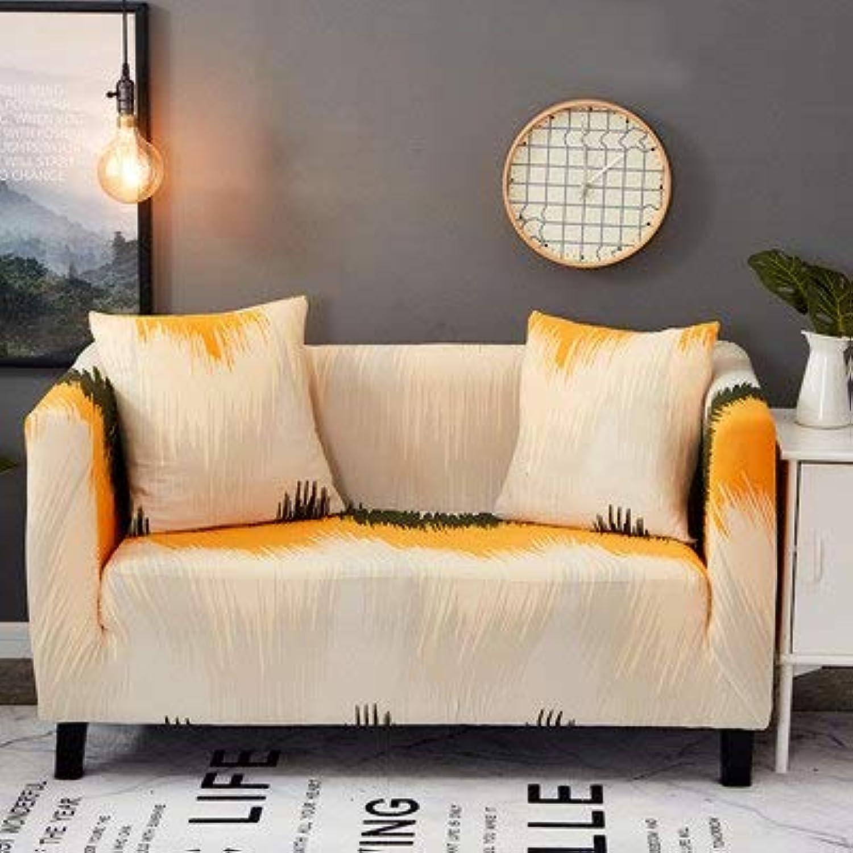 Farmerly KISS Queen 1PC Elastic Sofa Cover Furniture Predector Sofa strentch Tightly wrap All-Inclusive Slip-Resistant Corner Couch Cover   c04, 90-140cm