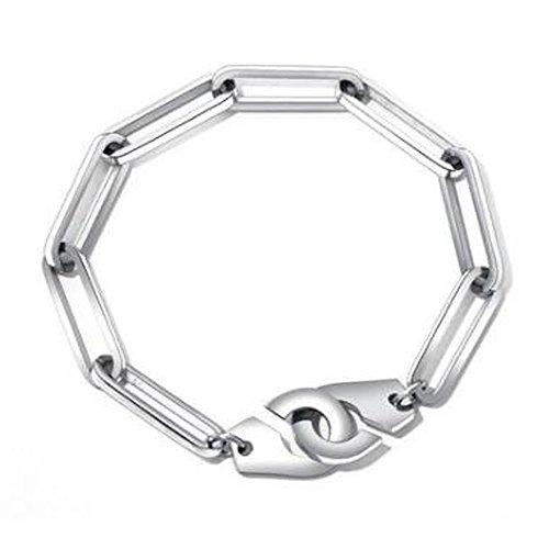 Littlefinger Men Handcuffs Bracelet,Stainless Steel Link Chain Bracelets Men Jewelry