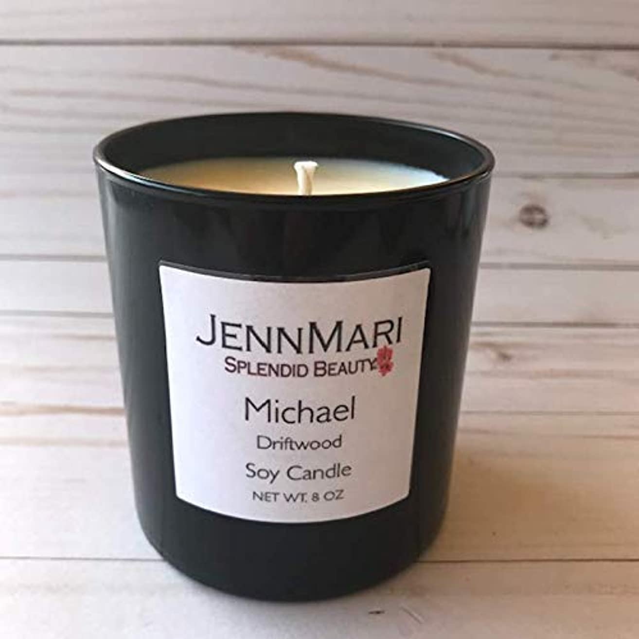 Splendid Beauty   Driftwood Scented Soy Candle Glass Jar   10 Oz   Handmade   Eco-friendly   Vegan   Cotton Wick   100% Soy Wax