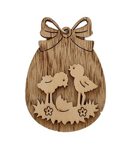 Funnythings Raamdecoratie Pasen houten kuiken prachtige decoratie als wand- en deursieraad voor Pasen