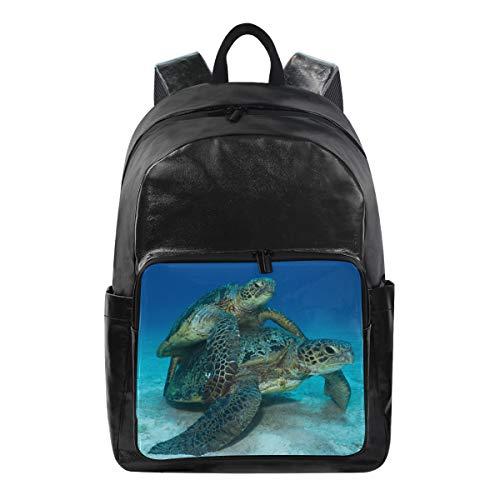 Daypack Backpack Multi Function Mother and Son Sea Turtle Animal Shoulder Bag Bookbag Doctor Casual