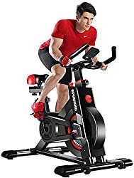 """STABLE SAFE EXERCISE BIKE Heavyweight frame and inertia enhanced flywheel provides natural feel and consistent momentum featuring quiet belt drives ensuring a smooth, quiet workout; perfect for 5' 3"""" ~ 6' 2"""" and 330 lbs max weight and fits for most r..."""