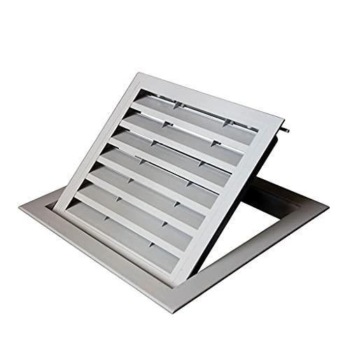 Cubierta De Rejilla De Ventilación Aérea, Parrillas De Ventilación De Aleación De Aluminio (Color : Style B (Hole Opening 350×350 mm))