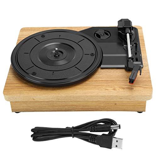 Tocadiscos de Vinilo, Tocadiscos de 33 45 78 RPM para Equipos de Audio de Salida RCA R L USB DC 5V, Compatible con Discos de Vinilo de 7, 10 y 12 Pulgadas, Discos de película