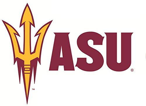 8 Inch ASU Trident Logo Decal Pitchfork Arizona State University Sun Devils AZ Removable Wall Sticker Art NCAA Home Room Decor 8 by 6 Inches