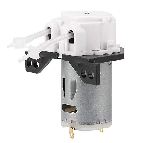 FTVOGUE Bomba Peristáltica DC12V / 24V Bomba Dosificadora DIY Cabeza de Tubo Peristáltico Para el Laboratorio de Análisis Químico Químico(White12v 1 * 3)