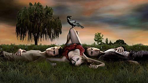 Puzzles Rompecabezas  The Vampire Diaries: Movie Poster B   Juego De Rompecabezas De Madera De 1000 Piezas para Adultos Niños Puzzle Juguetes Decoración del Hogar