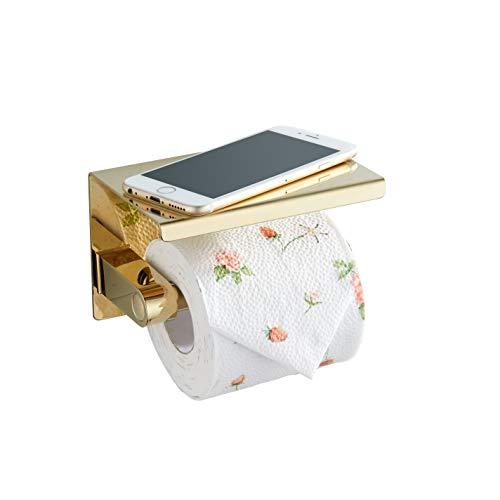 BGL Toilettenpapierhalter, 304 Edelstahl, Wandrollenpapierhalter für Hoteldekoration (Gold)