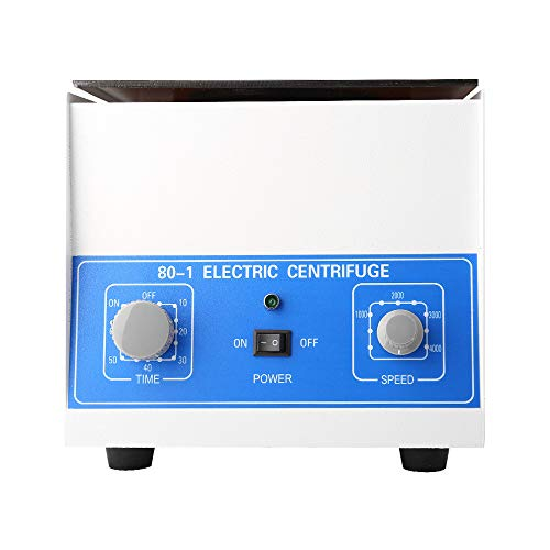 TOPQ Electric Lab Benchtop Centrifuge,Professional Low-Speed 4000rpm Centrifuge Machine 6 Tubes x 20ml, with Timer 0-60min and Speed Control