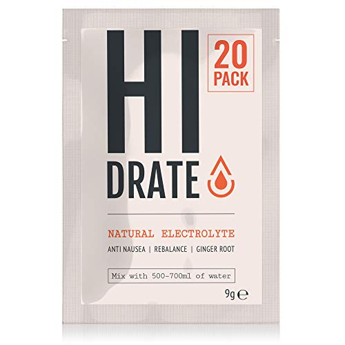 HI IMMUNE Natural Electrolyte Powder with Root Ginger - HI DRATE Electrolyte Powders, Low-Calorie...