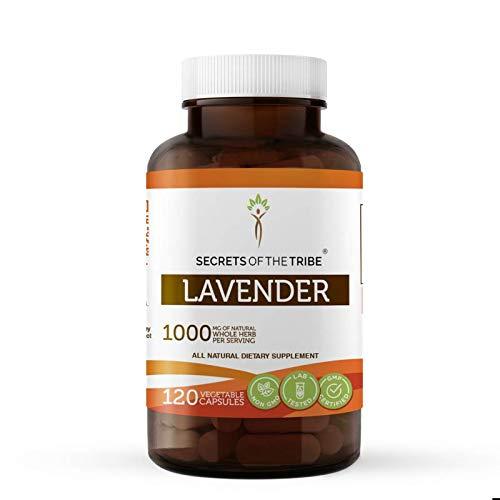 Lavender 120 Capsules, 1000 mg, Organic Lavender (Lavandin, Lavandula X Intermedia) Dried Flowers (120 Capsules)