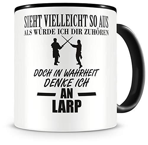 Samunshi® Ich denke an Larp Tasse - Rollenspiel   Geschenk   Kaffeetasse Teetasse Kaffeepott Kaffeebecher Becher
