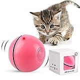 DIWUJI Bola de Gato, Juguetes para Gatos Pelotas, Carga USB Bola Giratoria Automática, Bola Eléctrica de 360 Grados Juguete Interactivo con luz LED para Ejercicio Animal Doméstico Gatos (Rosado)
