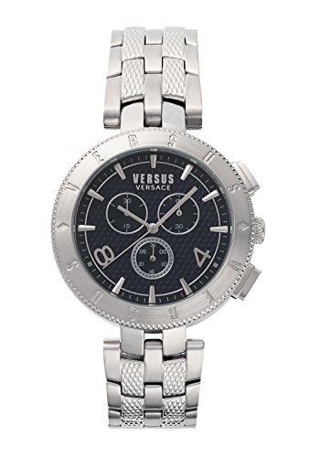 Versus by Versace Herren Chronograph Quarz Uhr mit Edelstahl Armband S76130017