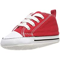 Converse First Star Cvs, zapatillas de moda unisex para bebé, Rojo (rojo), 3 UK