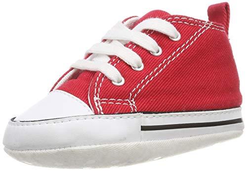 Converse First Star Toile, Unisex Kinder Sneaker, Rot, 20 EU