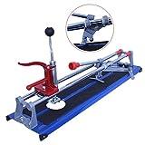 Fliesenschneider 600mm Schnittlänge 0-45 Grad verstellbar Rund -/ Lochbohrvorrichtung Handfliesenschneider mit Lochkreis