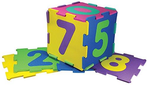 Kinder-Garden EVA 00380 - Puzzlematte 10-Zahlen, Spielteppich, 10 Matten, 30 x 30 x 1 cm