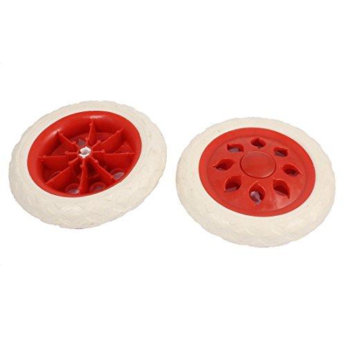 TOOGOO 2pzs Rueda Reemplazo de rueda taburete de carro de servicio de compras
