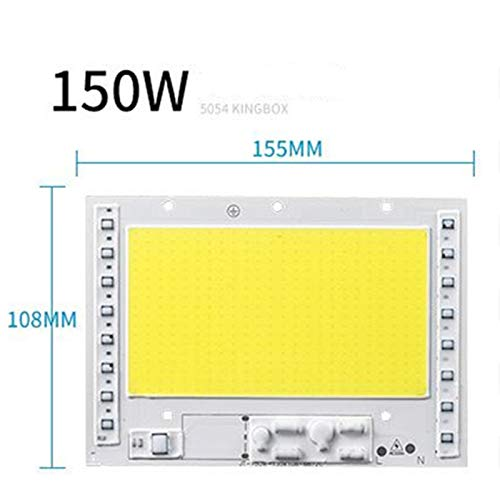 Metermall Lights For 100W/150W/200W 220V Driverless COB LED Lamp Bead for Outdoor Lighting 155 * 108-AC150W-warm light