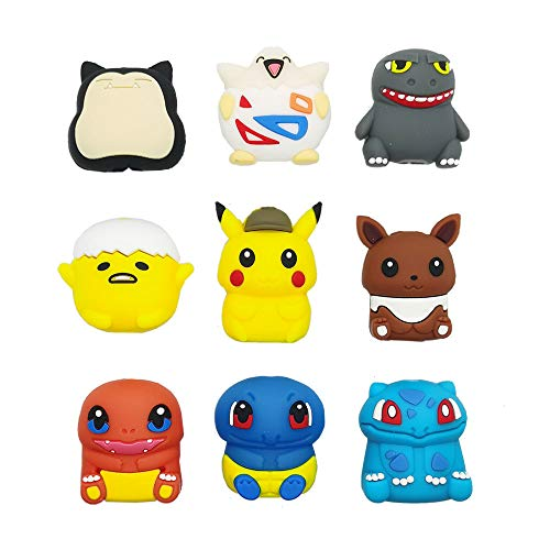 Cable Animal Bites,Cute Animals Charging Cable Saver Phone Accessory Protect USB Charger, Cord Charger Protector,Compatible with iPhone, Samsung, and Android Charger - 9 Pack