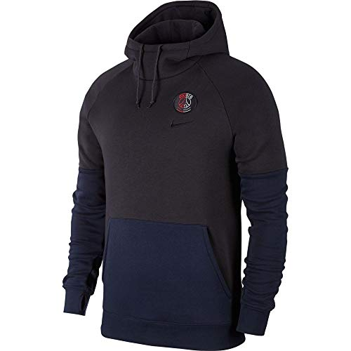 Nike Herren PSG Nk Gfa FLC Po Sweatshirt, Oil Grey/Obsidian/Oil Grey, M