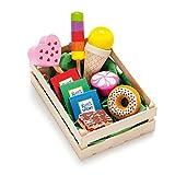 Erzi 28135 Sortiment Süßwaren aus Holz, Kaufladenartikel für Kinder, Rollenspiele