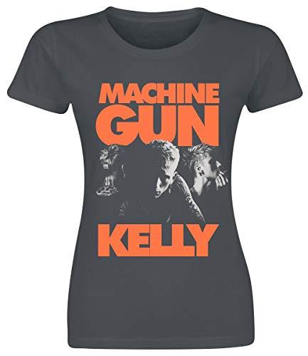 Machine Gun Kelly Three Portraits Femme T-Shirt Manches Courtes Anthracite S