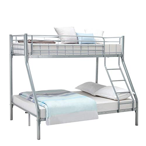 Panana Triple Bunk Bed 3FT Single 4FT6 Double Metal Bed Frame available in White Black,Silver