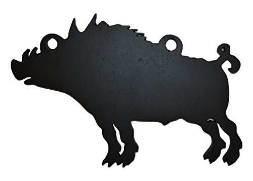 """High Caliber AR500 Animal Targets - Hog 1-8"""" X 12"""" X 3/8"""" - More Animals & Sizes in The Listing - Steel Targets Practice for shooing Pistol and Rifles"""