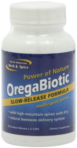 North American Herb & Spice OregaBiotic - 60 Capsules - Immune System & Digestive Support - Hair, Skin & Nail Health - Black Seed Oil, Cumin Oil, Oregano Oil, Sage Oil - Non-GMO - 30 Total Servings