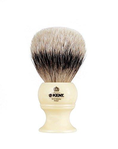 Kent Rasierpinsel aus reinem Dachshaar mit silberner Spitze, XL