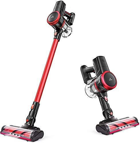 MOOSOO Cordless Vacuum, 23Kpa Brushless Motor Stick Vacuum Cleaner 4-in-1 Ultra-Quiet with Upgraded LED Floor Head for Hard Floor