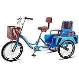 Jlxl 3 Radfahrräder Erwachsene Dreirad-Senioren Fahrrad Dreirad Pedal Mit Warenkorb Tricycle...