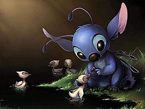 Collectie puzzel 1000 stukjes, Star Baby Stitch Feeding The Birds – Diy volwassen kinderen volwassen puzzels Educatieve…
